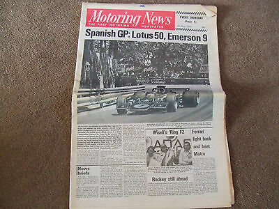 Motoring News 3 May 1973 Safari & Circuit of Ireland Rally Spanish GP Lotus F1