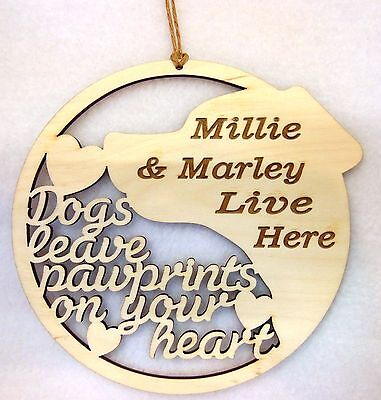 PERSONALISED Dog Door or Wall Wooden Sign