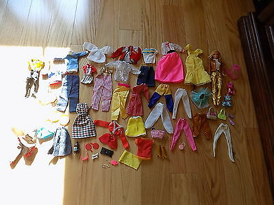 Barbie Ken Dolls Lot Accessories Girls Doll Clothing dishes accessories