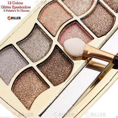 12 Colors Glitter Nude Matte Shimmer Eyeshadow Palette Makeup Hot Pro Cosmetic
