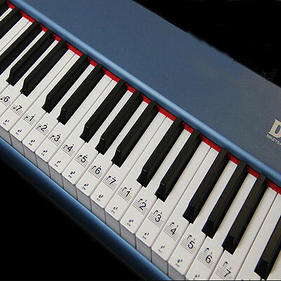 Transparent & Removable Piano Stickers for 54/61/76/88 Key Keyboards New