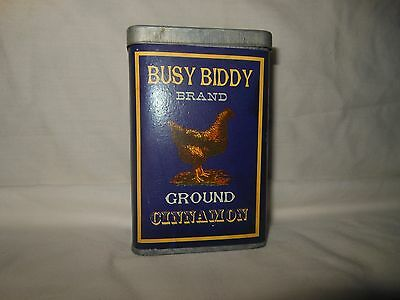 Vintage? Decorative Piece Busy Biddy Brand Cinnamon Tin Rooster Spice