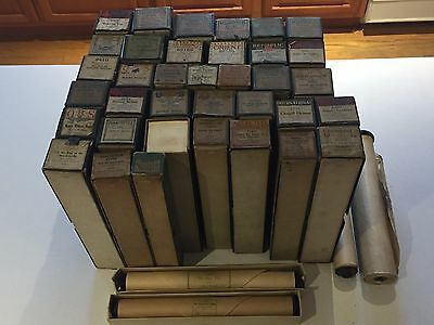 Vintage Lot of 40 Player Piano Rolls QRS Imperial International Mignon Some Rare
