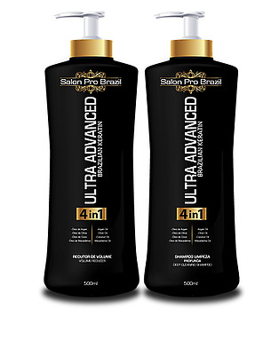 Ultra Advanced Brazilian Keratin 4-in-1 Hair Care Treatment (500ml x 2) – Salon