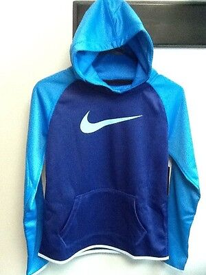 Nike NWT Girl's Dri-Fit Thermal Pullover Hoodie 806016 455