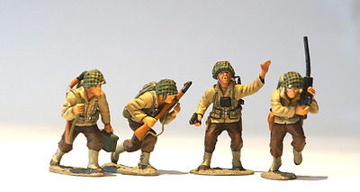 King And Country - Ww2 Dday American - Dd15 4Pcs Soldier Set