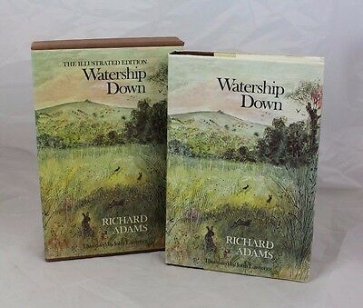 Vintage The Illustrated Edition Watership Down Hardback Book With Case ##KTH16RW