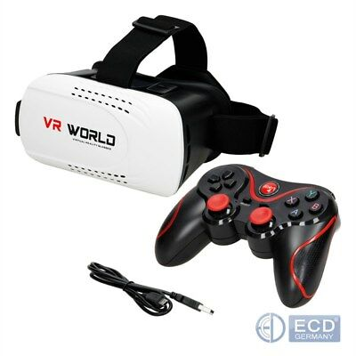 Vr Brille 3D Virtual Reality Bluetooth Game Controller Android Ios Smartphone