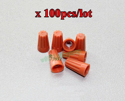 100PCS P3 Wire Connector Wiring Cap Closed Terminal Rotating Screw Spring Type