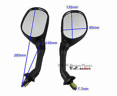 Universal Rearview Mirror 8mm 50cc to 250cc ATV Scooter Motorcycle 90 110 150cc