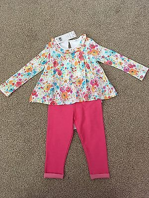BNWT Baby Girl Set 2in1 Tunic And Leggings 18-24 Months