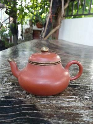 Antique Chinese Yixing Teapot With Old Marked Rare