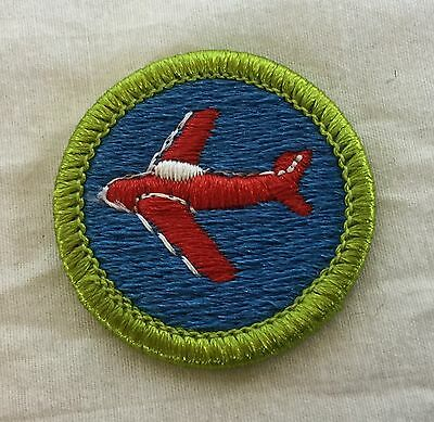 Boy Scout Round Merit Badge - Aviation - Plain Backing