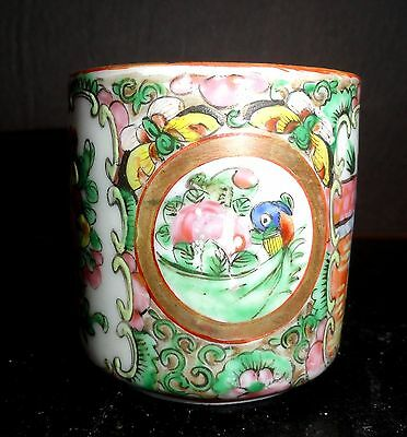 Antique Vintage Chinese Canton Famille Rose Porcelain Teacup 19th C
