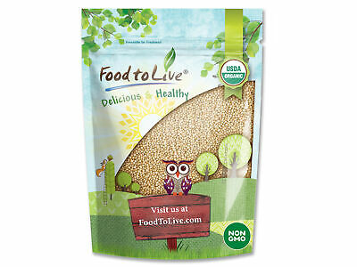 Food to Live Certified Organic Amaranth Grain (Bulk, Non-GMO, Kosher)