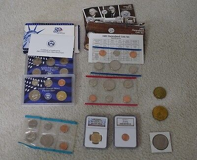 Coin Lot - Misc Graded NGC Coins Proof Mint Sets
