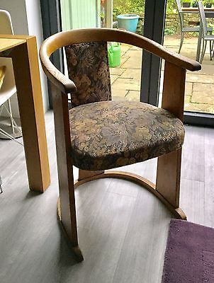 SET OF 4 VINTAGE BENTWOOD 1920's ART NOUVEAU DINING/PUB CHAIRS
