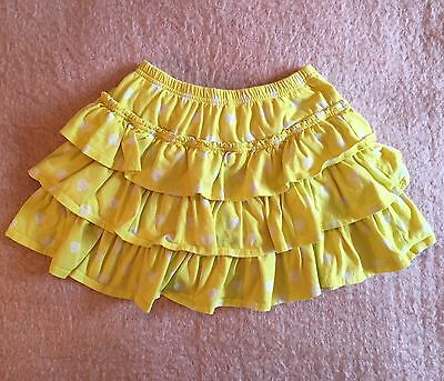 Girls Mini Boden Yellow Heart Skort Size 9 10 GUC