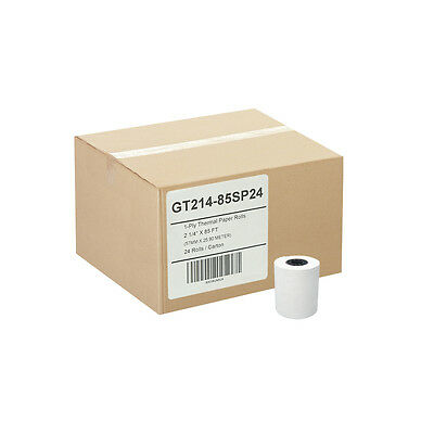 (24) 2-1/4 x 85' 1-Ply Thermal Paper Rolls