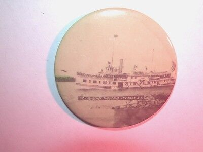 Awesome 1913 Folger Line Steamboat Thousand Islands St Lawrence Adv. Mirror