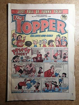 The Topper Comic No.1611 December 17th 1983 Vintage Old British Comics