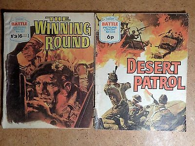 Battle Picture Library Comics No.501 & 530 1970's Vintage Fleetway War