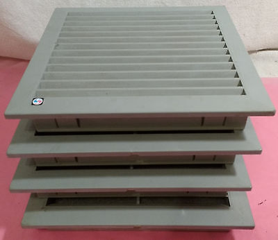 "Lot of 4 McLean/Pentair/Hoffman Air Filter Exhaust Grate, 7x7"" Hole, 8x8"" Cover"