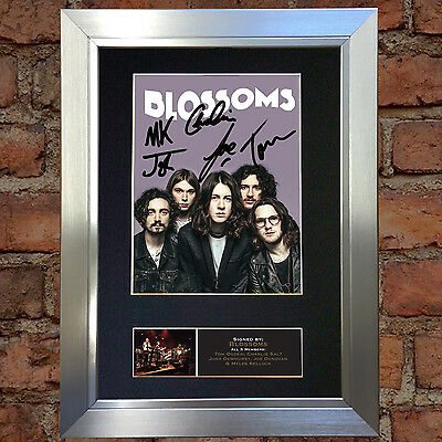 BLOSSOMS Signed Autograph Mounted Photo Repro A4 Print 647