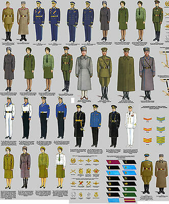 BIG SET Orders Rules Soviet uniforms Army NAVY USSR Military suit