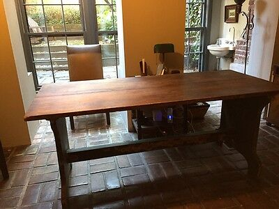 Antique 1800's Trestle Farm Table