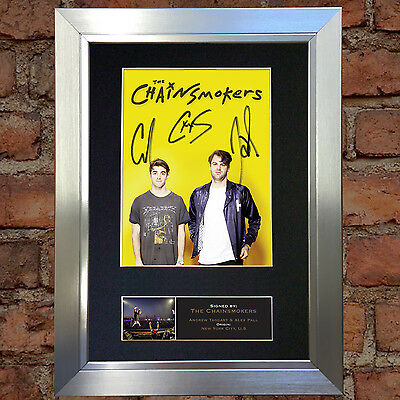 CHAINSMOKERS Signed Autograph Mounted Photo Repro A4 Print 650