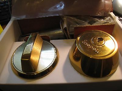 "NEW Medeco SINGLE CYLINDER DEADBOLT BRIGHT BRASS 2 3/8"" Backset Thumbturn"