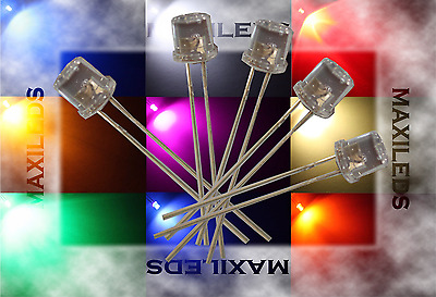 10x 3mm LED Flat-Top Flachkopf sehr hell LEDs Widerstände 3mm