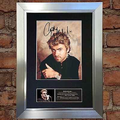 GEORGE MICHAEL No2 Signed Autograph Mounted Photo Repro A4 Print 651