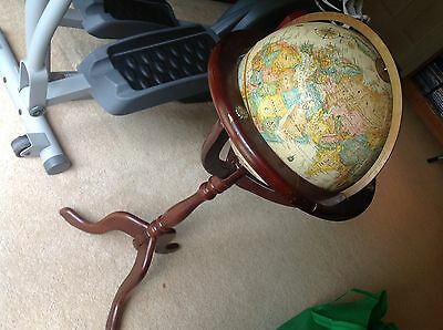 "Replogle 12"" World Classic Earth Globe & Dark 26 "" Wood Stand Bombay Company"
