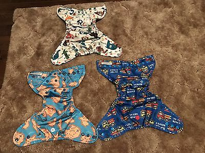 Lot Of 3 Buttons Diaper Covers
