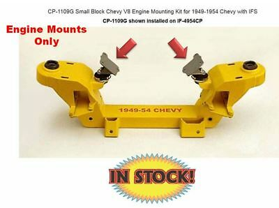 Weld-On Engine Mounts ONLY for 1949-54 Chevy SB Chevy IFS - CP-1109G