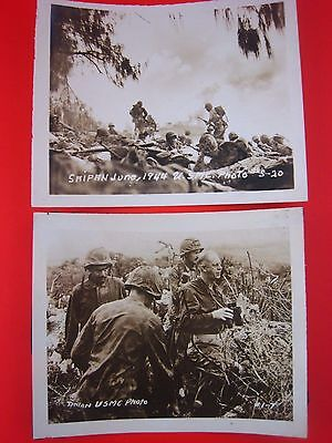 Vintage WW2 PHOTOS...lot of 2...USMC....Saipan,Tinian...5x4