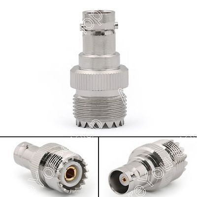 1Pcs UHF Female PL259 Jack to BNC Female Jack Straight RF Connector Adapter BS1