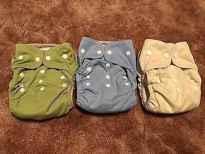 Lot Of 3 Thirsties Size 2 All In One Diapers