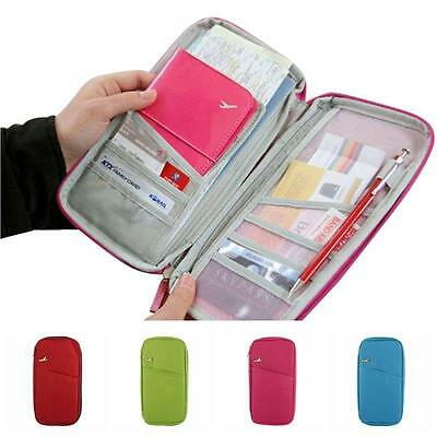 Travel Wallet Passport Holder Card Organizer Bag Cover For iPhone Case Pouch LH