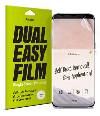 Samsung Galaxy S8 Screen Protector | Ringke Full Coverage Edge-to-edge Film 2pcs