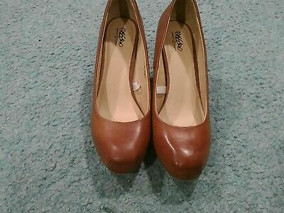 Mossimo Brown Square Rounded Toe Pumps Heels Women's size 10
