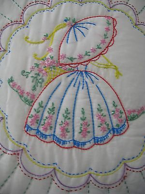 Vintage Souther Belle Quilt, Big And Beautiful At 80X100, Never Used..lovely~