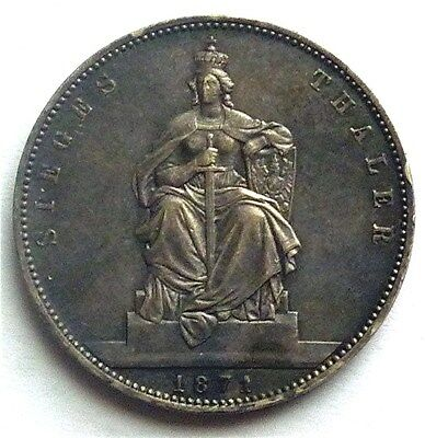 1871-A Germany Prussia - Thaler - Victory Over France - Silver - German States