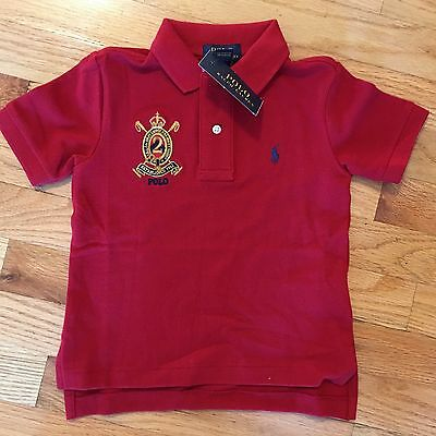 NWT Ralph Lauren Toddler Boys Size 2T Red Polo Short Sleeve
