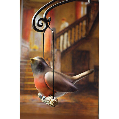 Singing Robin Hand-Painted Hanging Resin Figurine