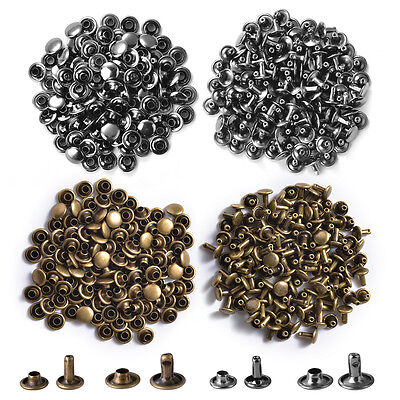 Die Punch Tool Set with 100 Sets Double Cap Rivets Studs Leather Craft Tubular