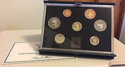 1985 United Kingdom Royal Mint Proof Coin Collection, Original Case and COA