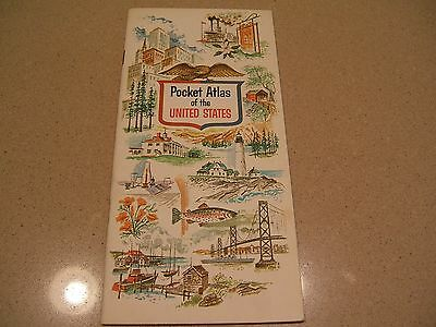 VINTAGE 1960's? Enco Humble Oil & Refining Co. Pocket Atlas of USA